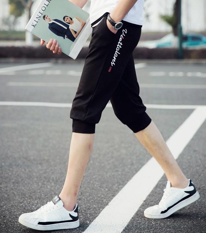 Quần Short Thun Nam Phối Chữ Bo Ống Thời Trang Yodi Store SHORT NAM 100002 B