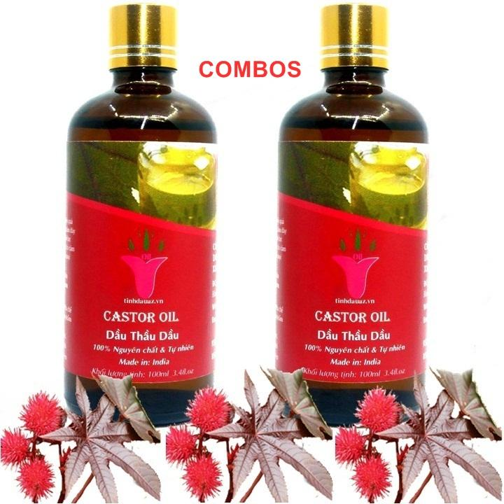 COMBOS 2 CASTOR OIL | 100ML/1JAR | INDIA