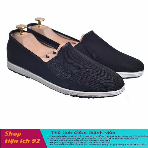 Giày lười nam vải đen Verygood GTTB12+ Tặng kèm 1 thẻ tích điểm shoptienich92