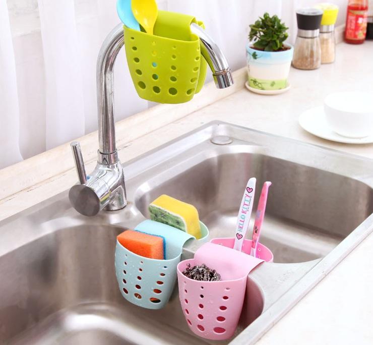[HCM] Khay dẻo đôi đựng vật dụng rửa chén