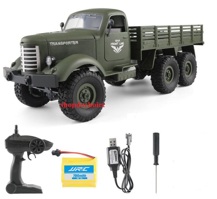 Xe tải quân sự điều khiển từ xa 3 cầu...
