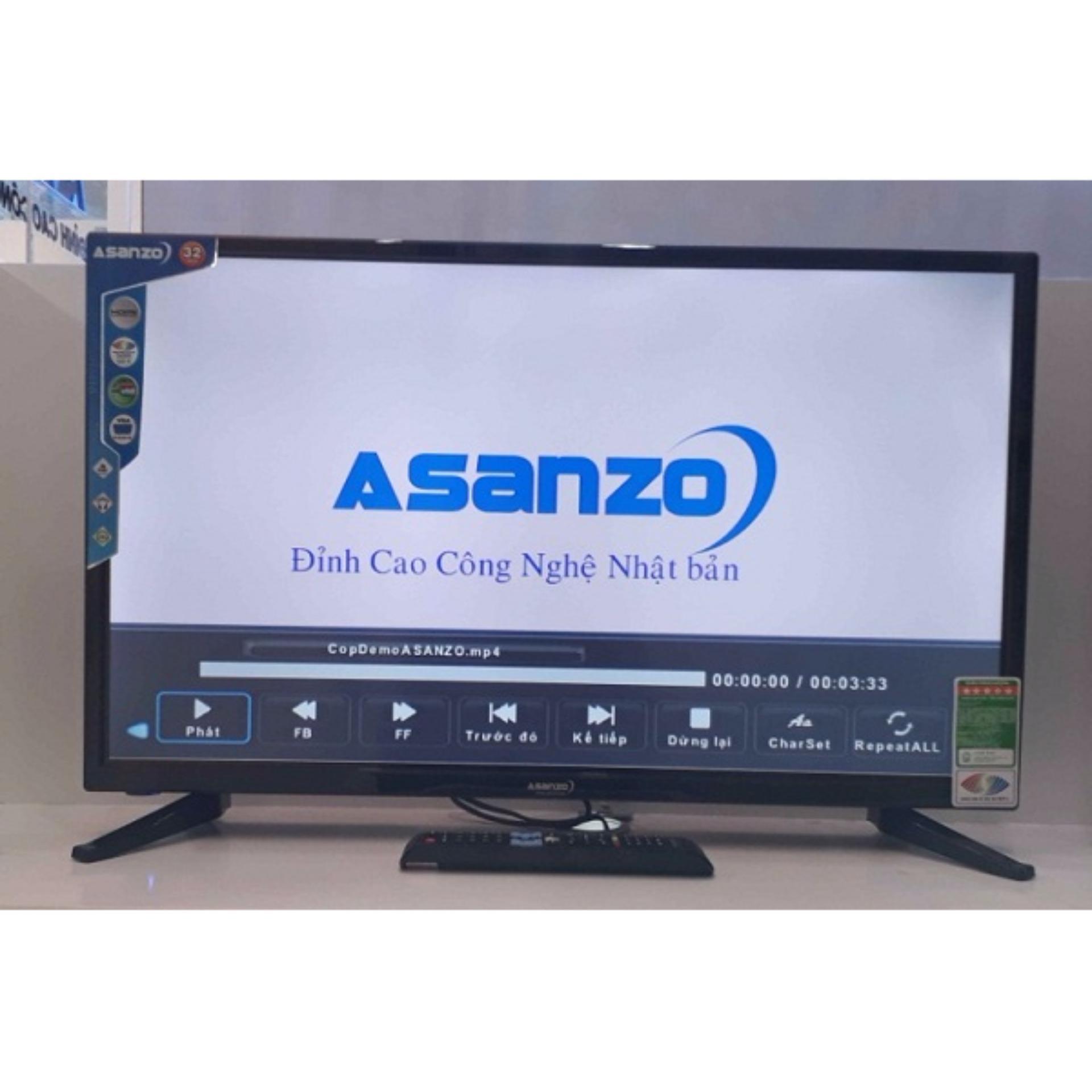Tivi LED Asanzo 32 inch HD - Model ES32T800 (Đen)