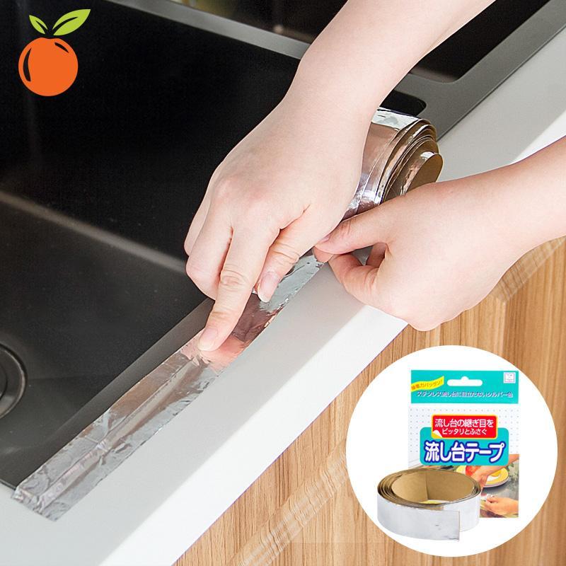 Băng dính nhôm Kokubo dán kẽ hở ở bếp, bồn rửa bát, bề mặt kim loại