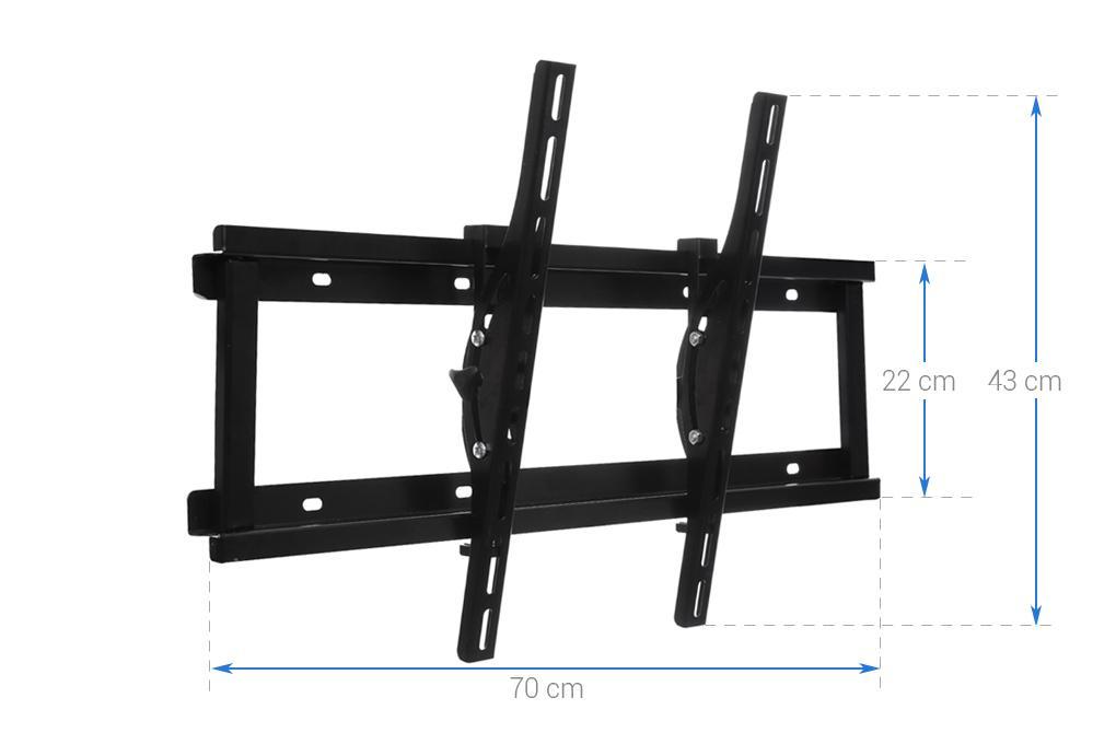 Khung treo cao cấp Tivi LCD-LED-PLASMA nghiêng cao cấp N6.4 37 - 63 inch (Đen ) - Huy Tưởng ( Có clip hướng dẫn lắp đặt )