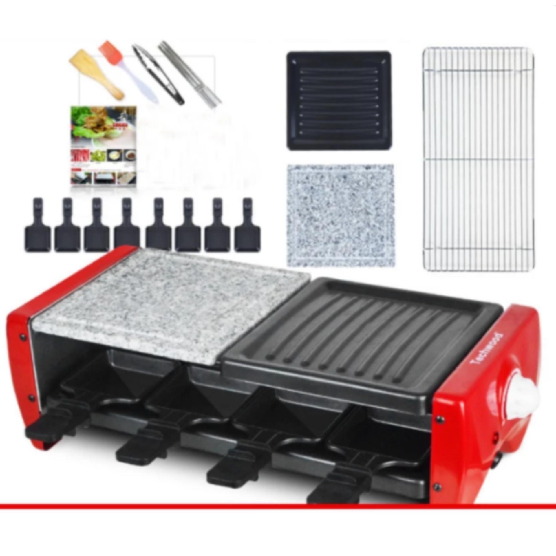 combo Bếp nướng điện 2 tầng Techwood 1350w và bộ dụng cụ nướng