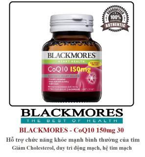 Thực phẩm bảo vệ sức khỏe tim mạch - Blackmores CoQ10 150mg 30 Capsules thumbnail