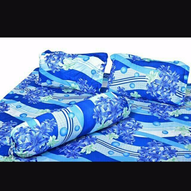 Bộ ga nệm thun 1m8 x 2m gồm 2 áo gối nằm 1 áo gối ôm