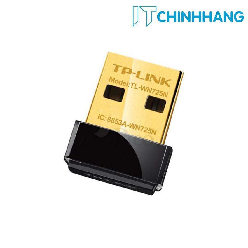 USB kết nối Wifi TP-Link TL-WN725N Mini chuẩn N 150Mbps - HÃNG PHÂN PHỐI CHÍNH THỨC
