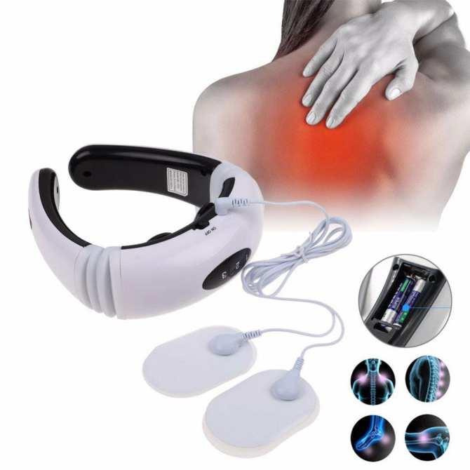 May matxa doctor ho - May massage xung dien 8 mieng dan - Máy massage cổ, vai, gáy cao cấp Cervical SH-208- Dòng máy massage được ưa chuộng hiện nay- Giảm giá 50% kèm bảo hành 1 đổi 1