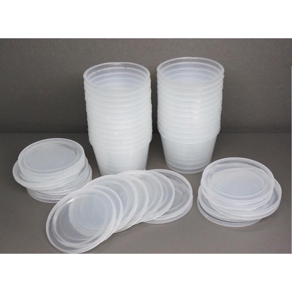 Combo 10 hộp nhựa size M đựng Slime