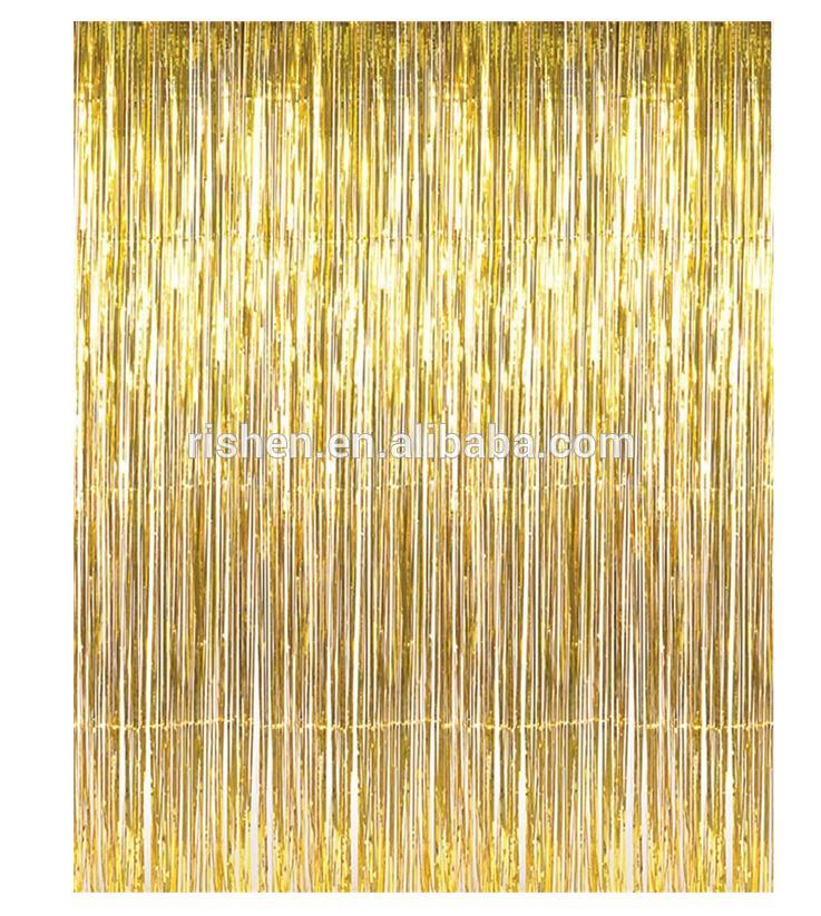 Rèm kim tuyến 1x2 mét ( màu vàng)