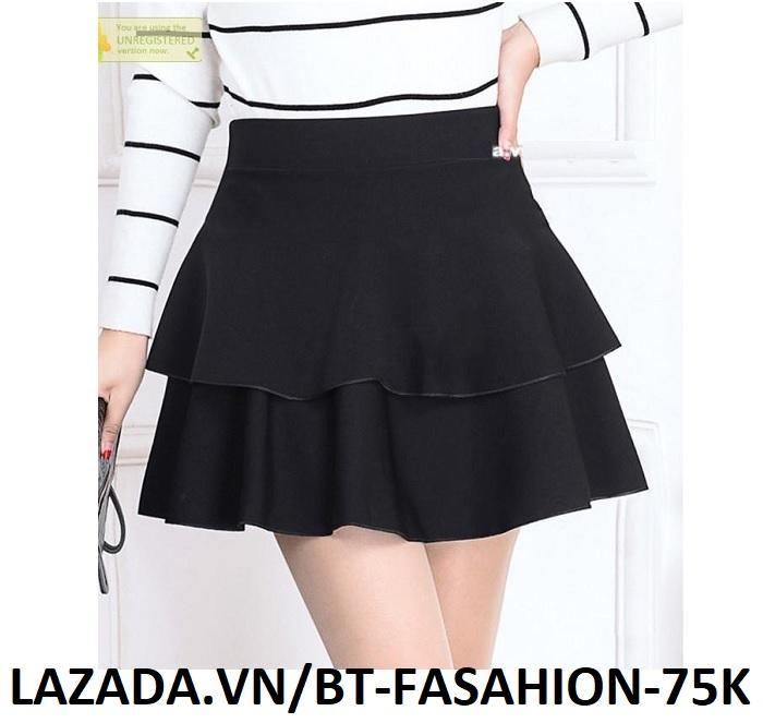 Chân Váy Xòe Lưng Thun Duyên Dáng Thời Trang Hàn Quốc - BT Fashion (VA01C)