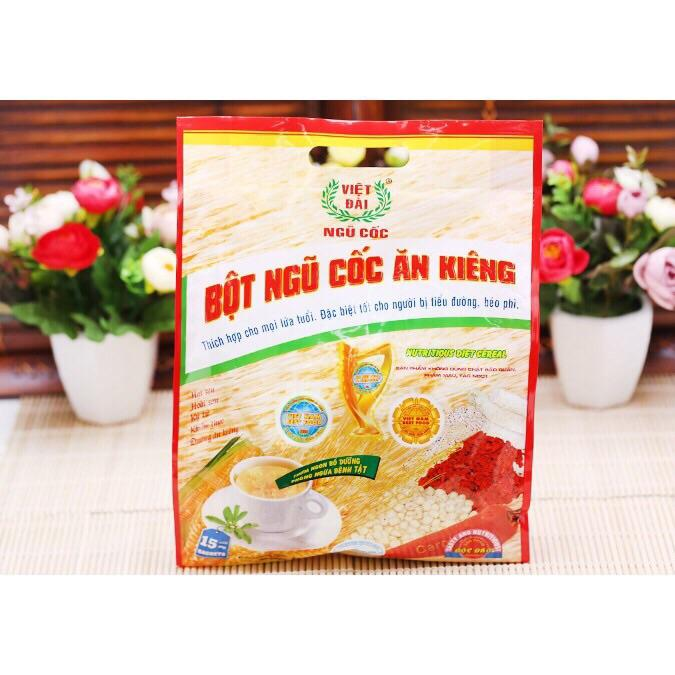 Bột ngũ cốc ăn kiêng Việt Đài bịch 600g (15 gói)