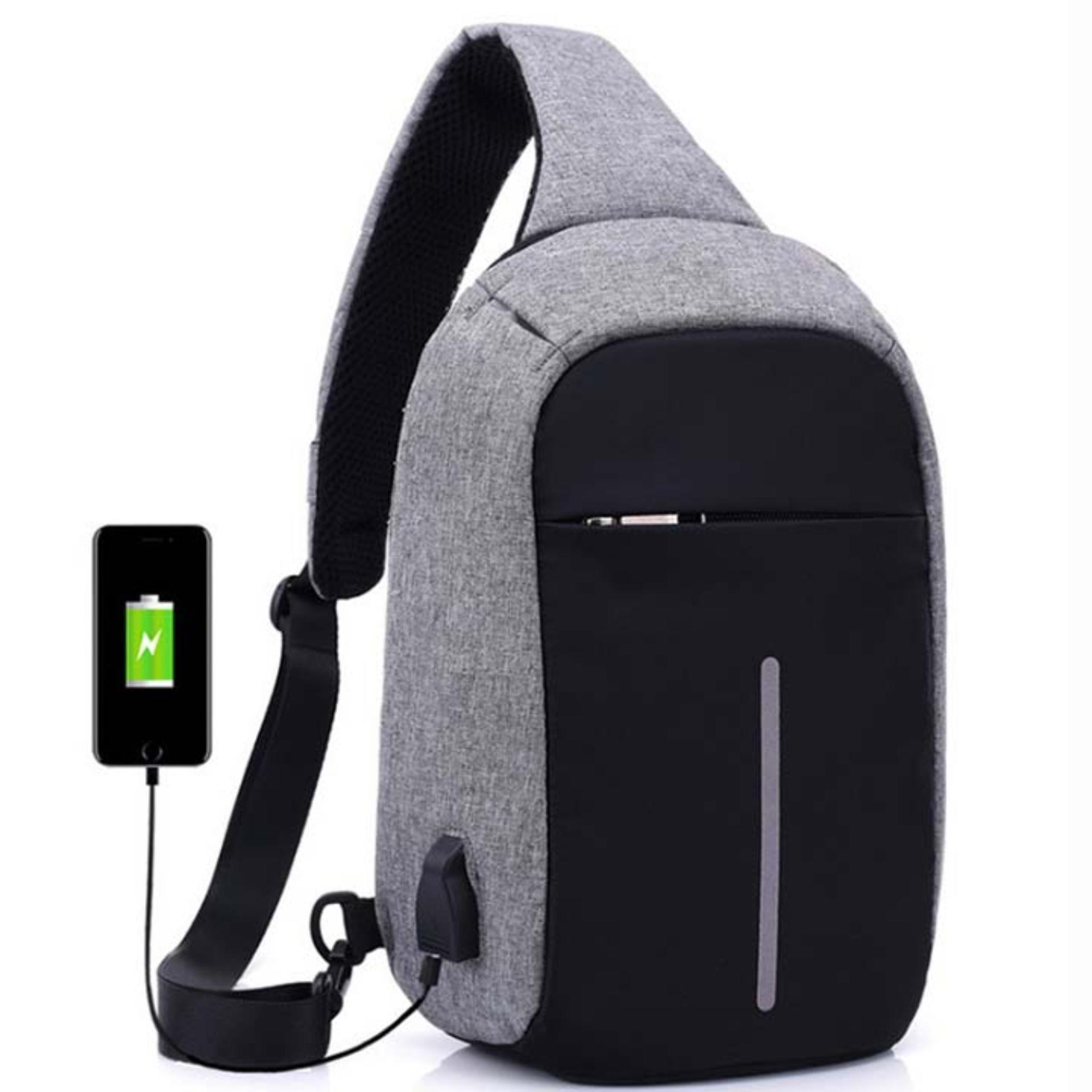 Túi Đeo Chéo Nam cao cấp có cổng sạc USB