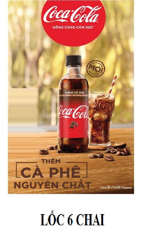 Lốc 6 chai Coca cà phê 390mlx6 18x11x21 / lốc6 / lỏng, hàng chuẩn, cực rẻ luôn, cucreluon