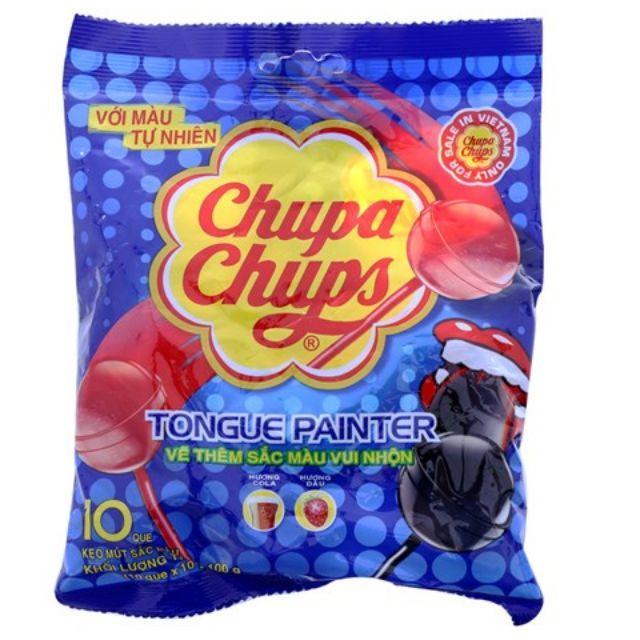 Kẹo mút Chupa Chups vị cola, dâu 100g (10 cây)