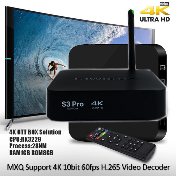 Đầu phát tivi-  Android box Kiwi s3 Pro, Tiện lợi, Giao diện thông minh -Tv box wifi, Tv box wifi - Sale Off 50%