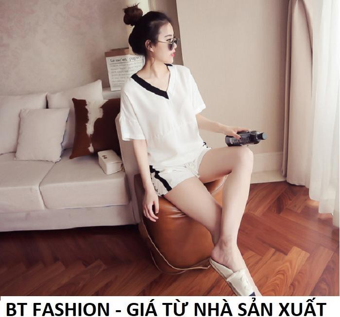 Đồ Bộ Áo Thun Nữ + Quần Đùi Sọt Thun Nữ Thể Thao, Ở Nhà, Đồ Ngủ Thời Trang Hàn Quốc Mới - BT Fashion (DN01B-MSL)
