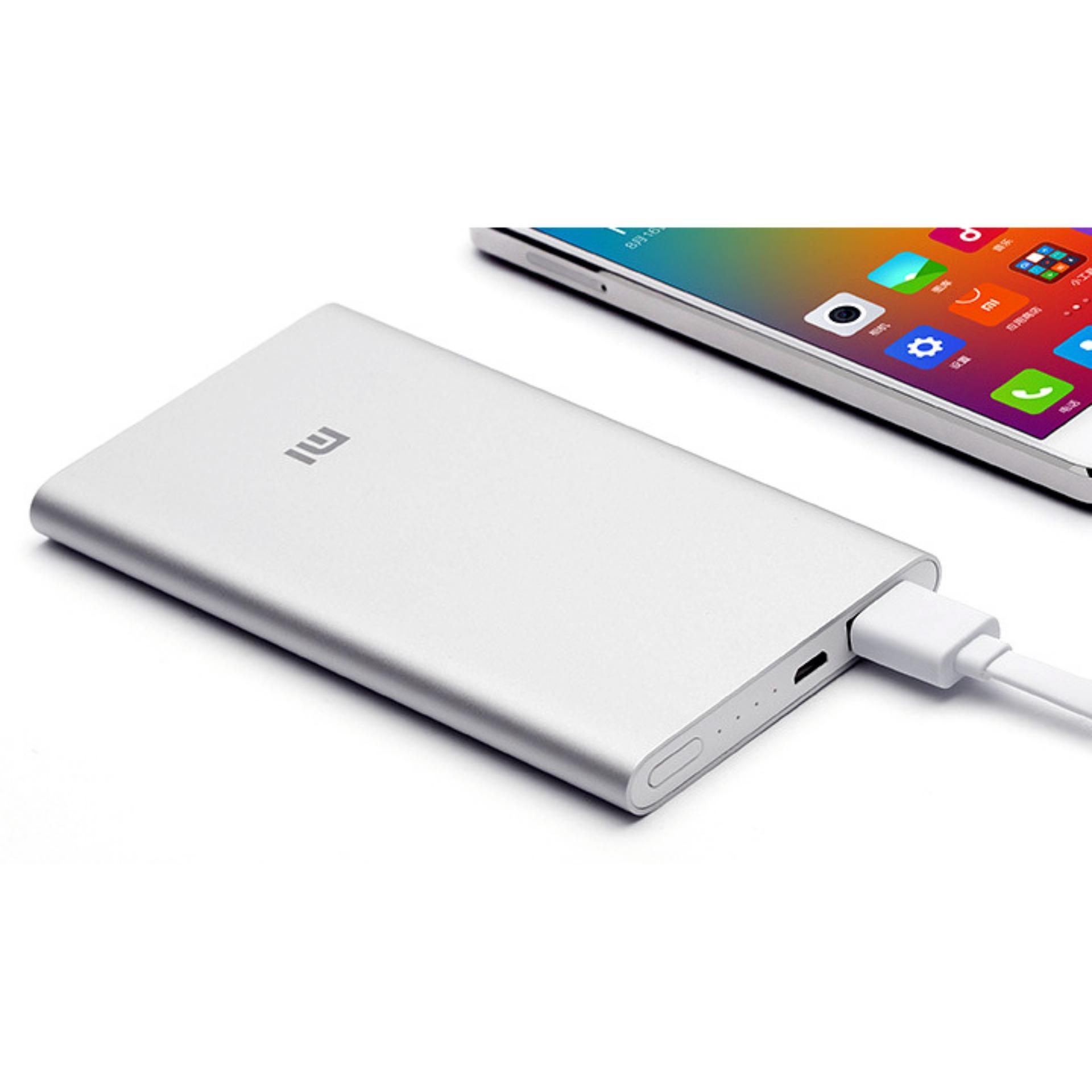 Pin sạc dự phòng Xiaomi Mi PowerBank 5000 (Bạc) - Hãng phân phối chính thức