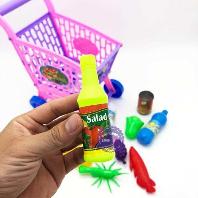 Hình ảnh Bộ đồ chơi xe đẩy trái cây siêu thị Long Thủy loại nhỏ - ĐỒ CHƠI CHỢ LỚN