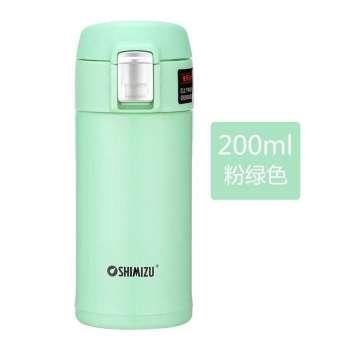 SHIMIZU/SHIMIZU สุญญากาศอลูมิเนียมเด็กอุ่นถ้วยสุภาพสตรีวางในรถ Petpet ติดตัวพลิกฝาแก้วเก็บความร้อน
