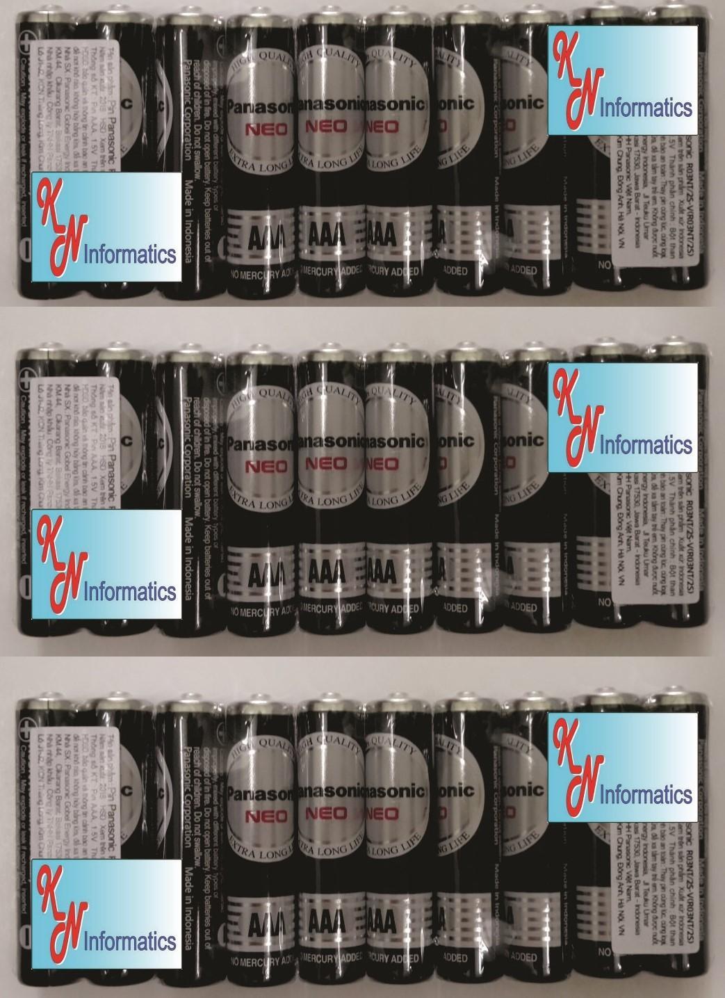 30 viên Pin AAA Panasonic - (15 vĩ) - Mã số: R03NT/2S - Made in Indonesia