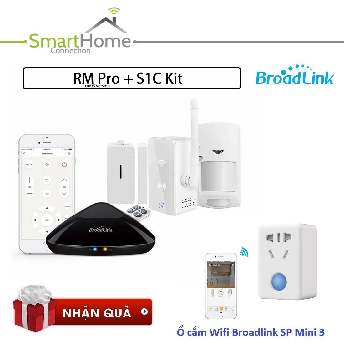 Bộ sản phẩm nhà thông minh Trung tâm kiểm soát an ninh Broadlink S1C - Bộ Điều Khiển Trung Tâm BroadLink RM Pro Plus