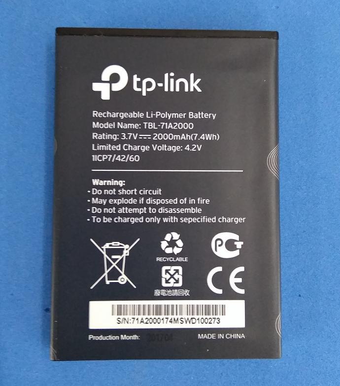Pin cho bộ phát wifi sim 3G/4G TP-Link M5250, M5350, M7300