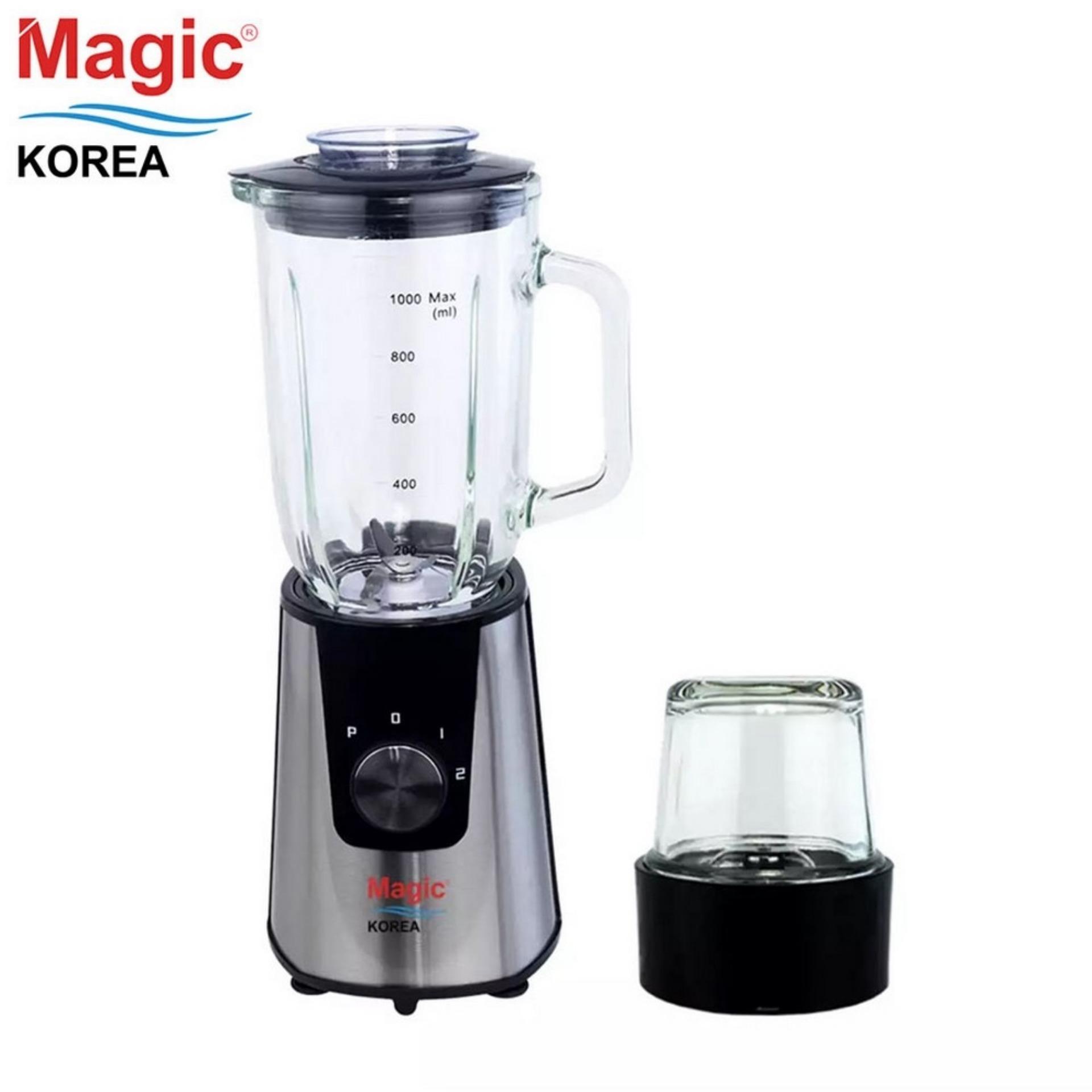 Máy xay sinh tố đa năng 02 cối thủy tinh Magic Korea A93 (Màu bạc)