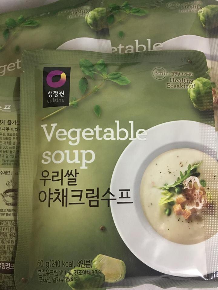 Soup rau Hàn Quốc