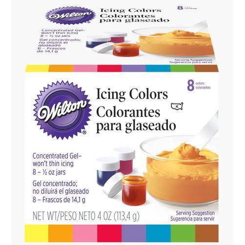 Bộ 8 màu thực phẩm Wilton USA cho bánh sáng đẹp, lên màu tốt, an toàn
