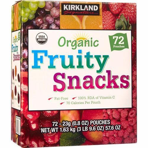 Kẹo dẻo trái cây ORGANIC FRUITY SNACKS KIRKLAND - Hàng nhập Mỹ
