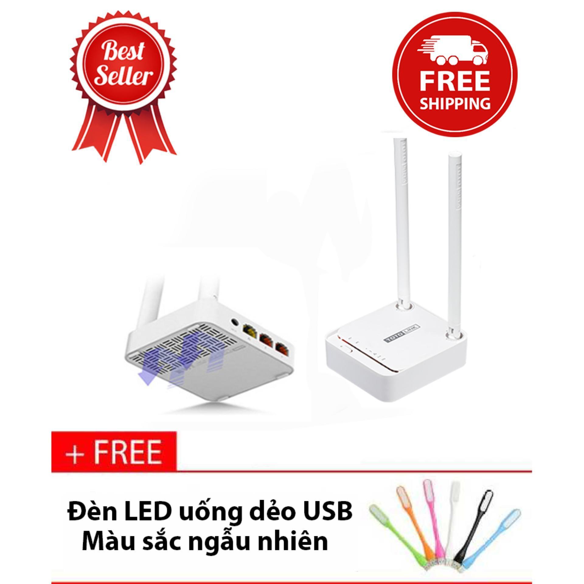 Thiết bị router phát wifi Totolink N200RE-V3 + Tặng đèn LED USB - Hãng phân phối chính thức