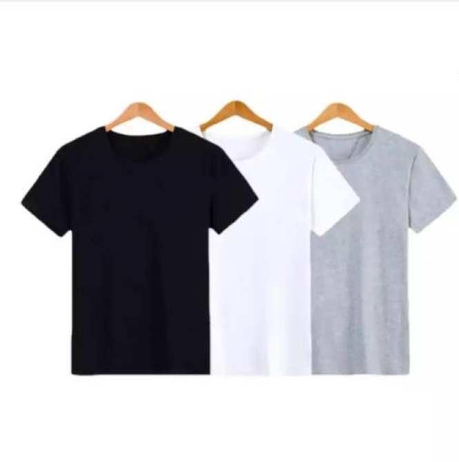 Hình ảnh Bộ 3 áo thun 100% COTTON cổ tròn cao cấp mềm mịn, thấm hút tốt ( đen, trắng, xám ) thoitrangtrandoanh