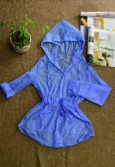 ยักษ์ Li Jia 2019 ฤดูร้อนผลิตภัณฑ์ใหม่สไตล์เกาหลีชายหาดเสื้อผ้ากันแดดหญิงแขนยาวบางเฉียบนักเรียนลำลองรุ่นยาวปานกลาง-