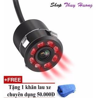 camera ip - Camera lùi hồng ngoại 8 LED chuyên ban đêm, FULL HD, Siêu chống nước - TẶNG KHĂN LAU XE CAO CẤP thumbnail