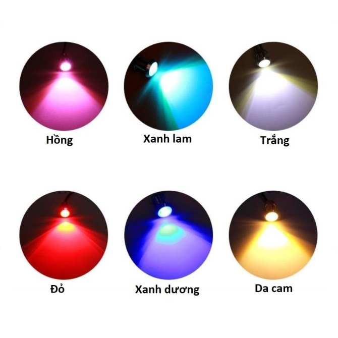 Một đôi đèn LED nút áo ánh sáng màu xanh dương