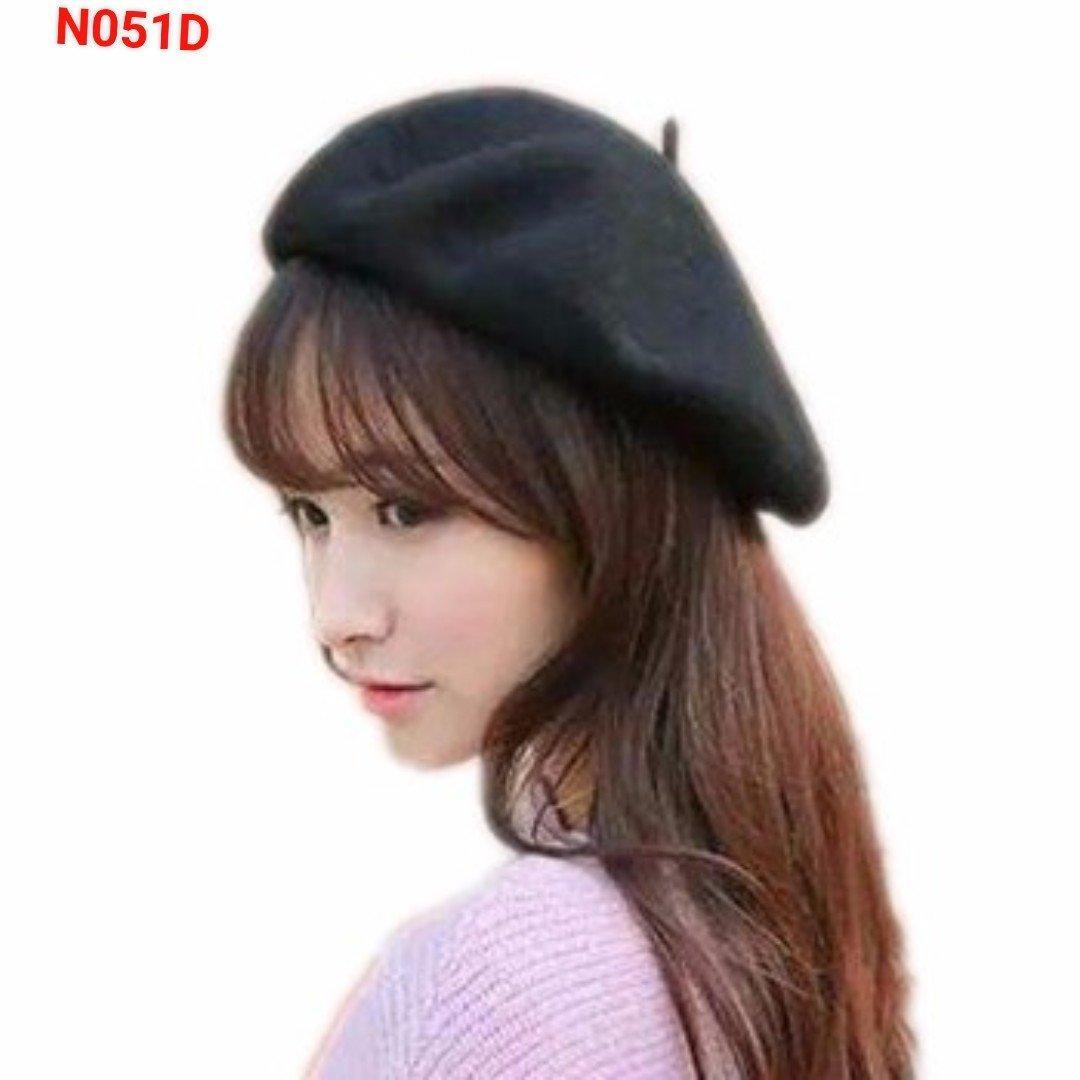 Mũ nồi vải nỉ,mũ vải,nón lệch, nón bê rê đội mùa  đông,mũ nồi nữ  thời  trang,,mu bê rê nữ bằng len