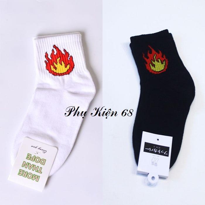 Bộ 02 vớ (tất) lửa Hàn Quốc (màu trắng-đen)