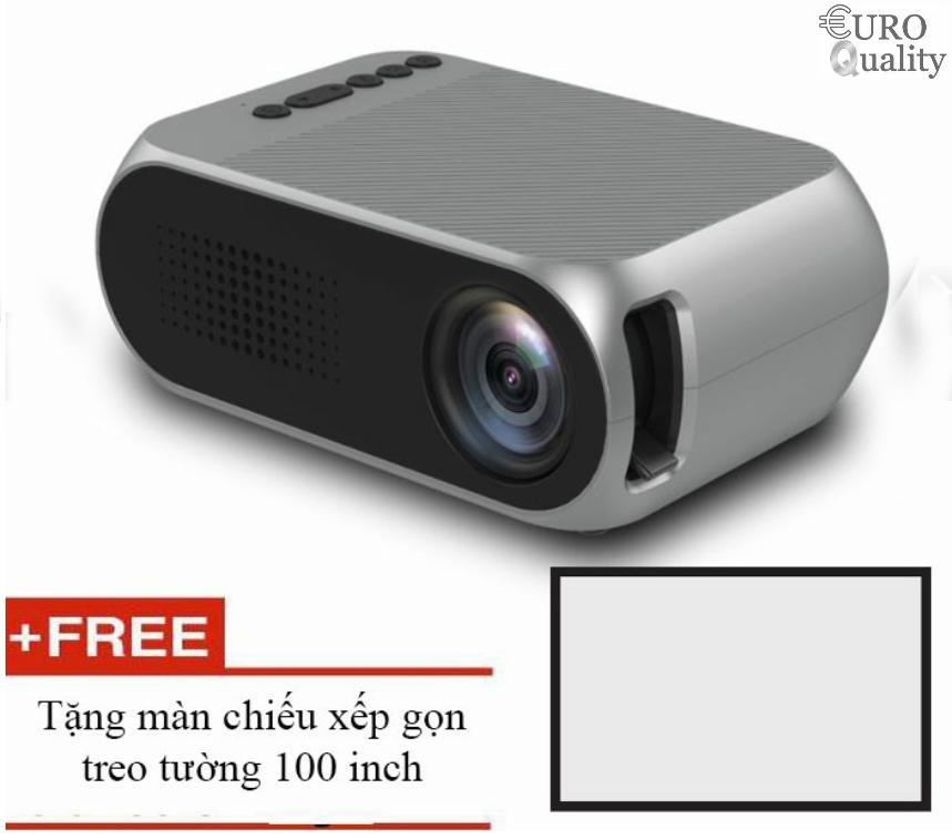 Máy Chiếu LED mini YG320 1080p Home Cinema + tặng màn chiếu 100 inch