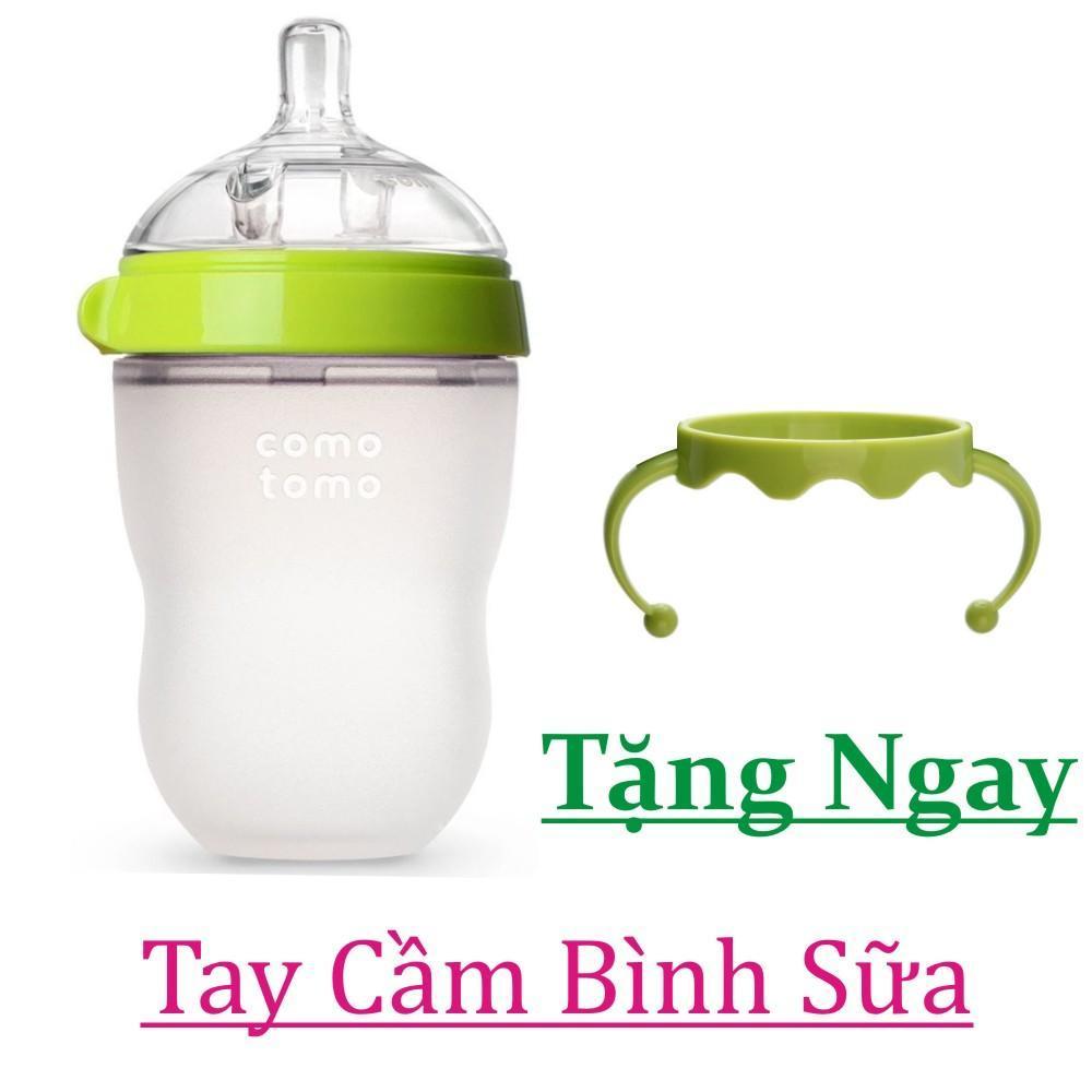 Bình Sữa Comotomo 250ml Tặng Tay Cầm Cho Bình