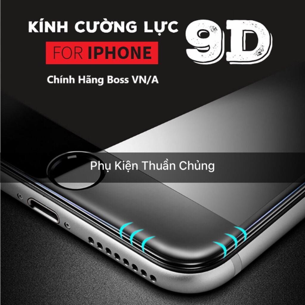 Kính cường lực 9D full màn hình Iphone 6,6s,7,8,x,6p,6sp,7p,8p,X trắng ( vui lòng chọn đúng dòng điện thoại + màu trong mục Lựa Chọn)