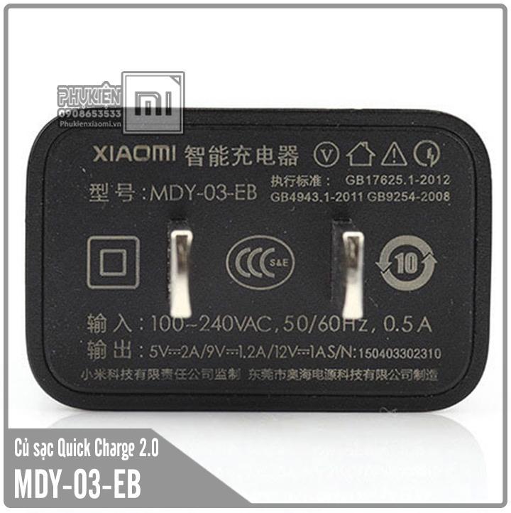 Củ sạc cho các dòng máy Xiaomi MDY-03-EB - sạc nhanh QC 2.0