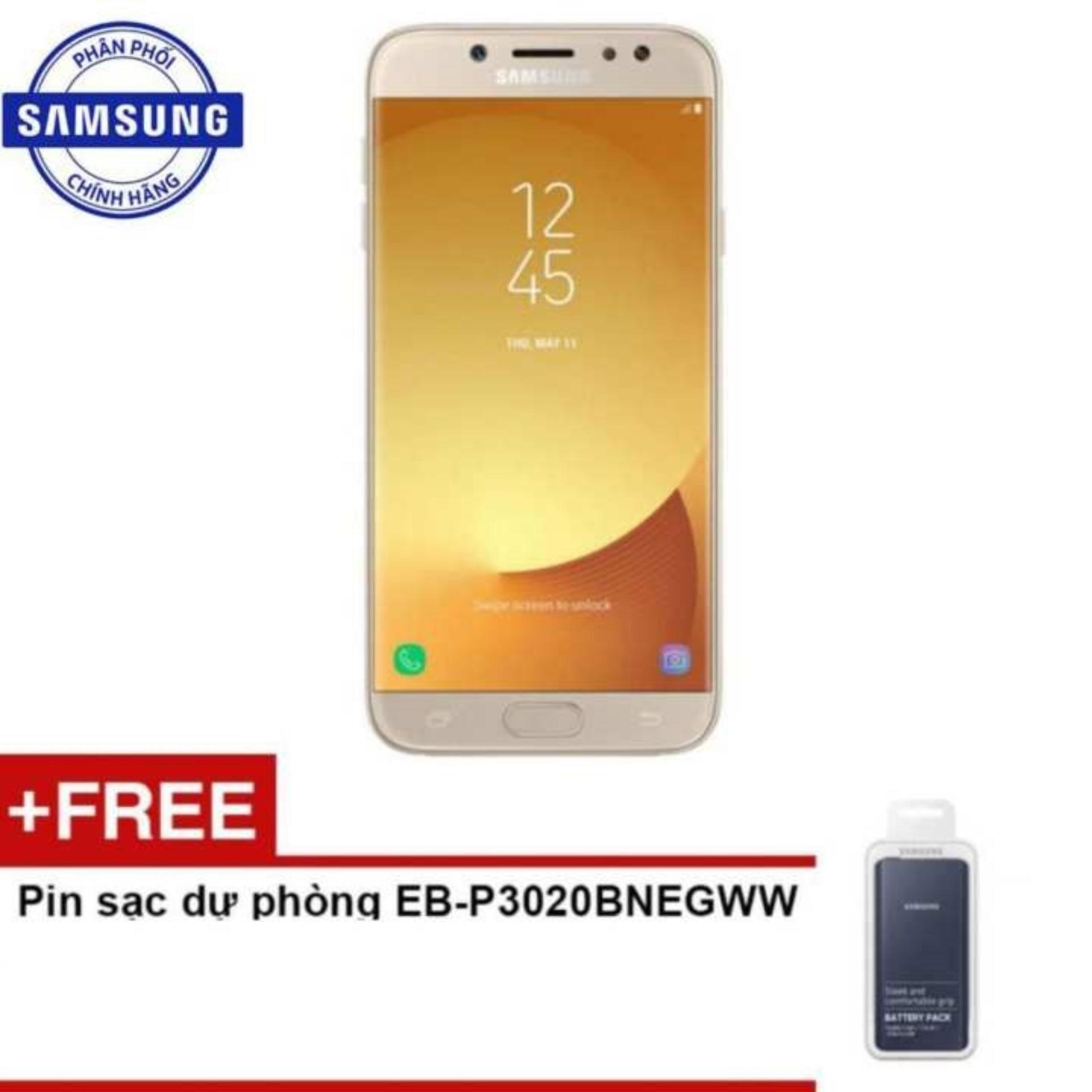 Samsung Galaxy J7 Pro 2017 32GB Ram 3GB (Vàng) - Hãng phân phối chính thức + Pin sạc dự phòng EB-P3020BNEGWW