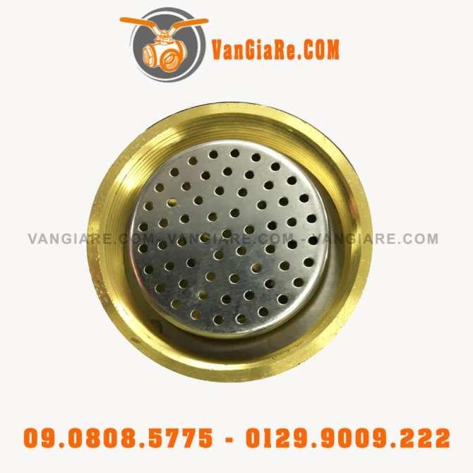 Van phao cơ đồng thau phi 114mm có lưới lọc banh inox Đài Loan (loại tốt)