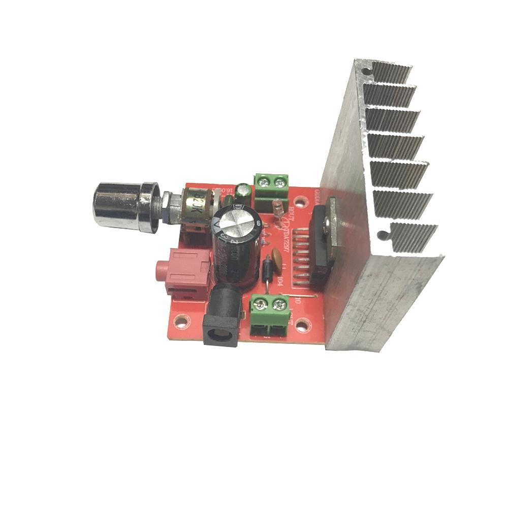 Mạch Khuếch Đại Âm Thanh Stereo 2 Kênh x 15W Dùng IC TDA7297 Nguồn Đơn 12V