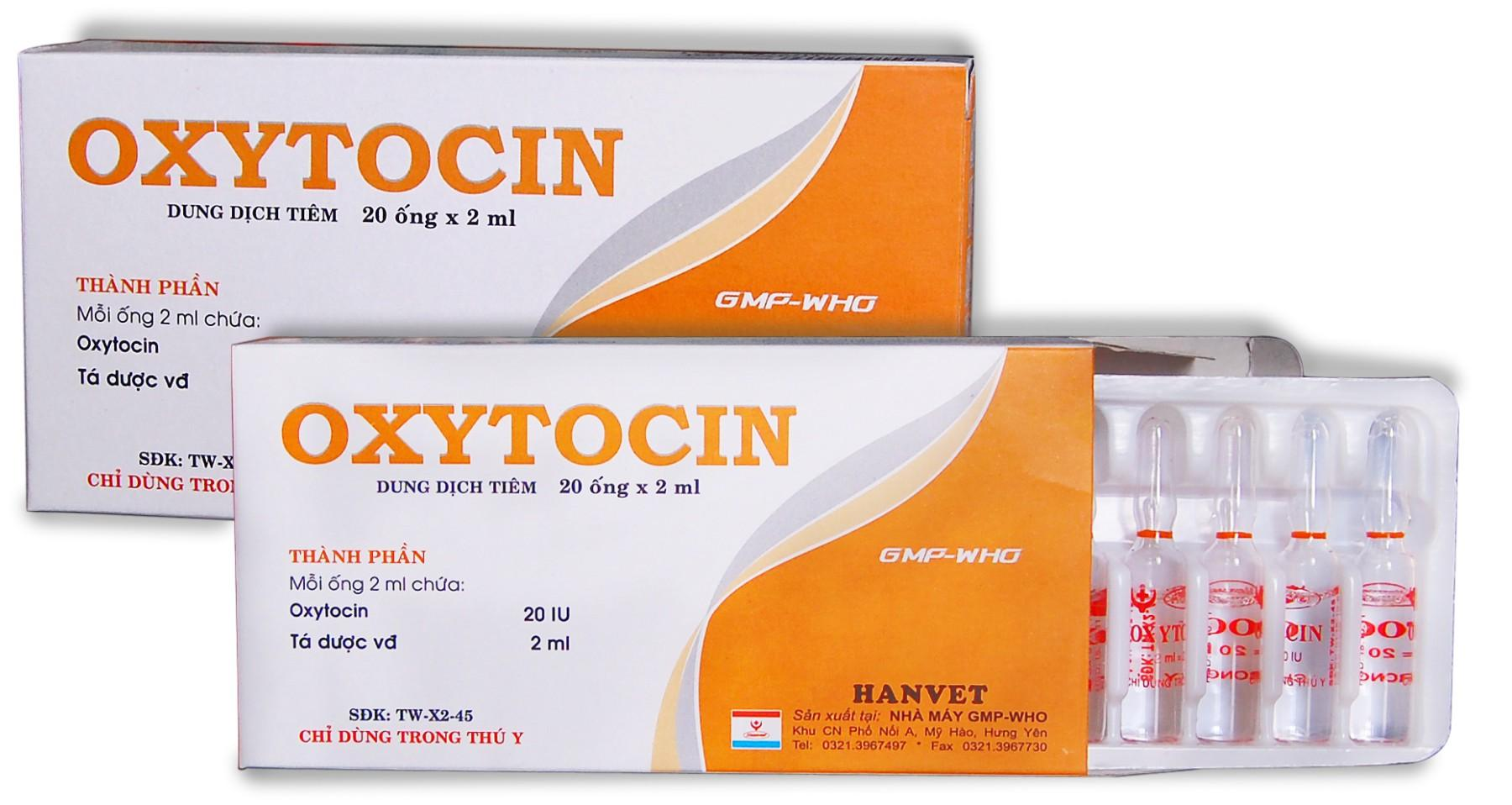 thuốc thú y oxytocin 2ml (thuốc kích đẻ cho gia súc,chó sp của HANVET) 10 ống