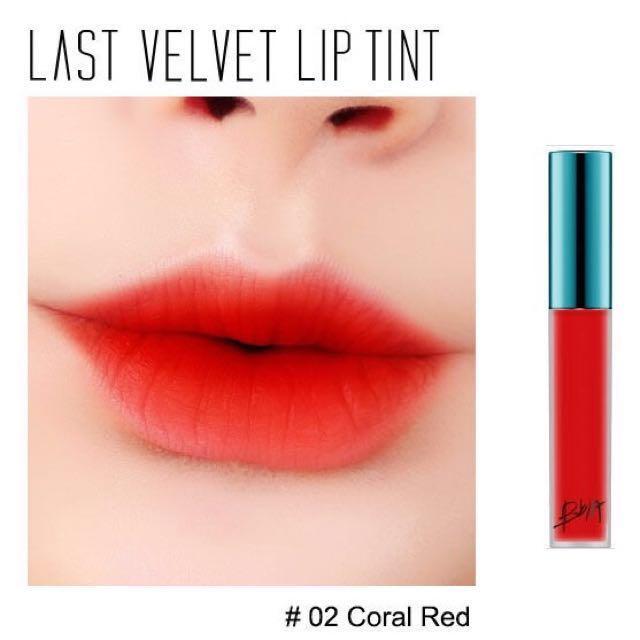 Son Tint Lì Bbia Last Velvet Lip Tint #02 Đỏ cam