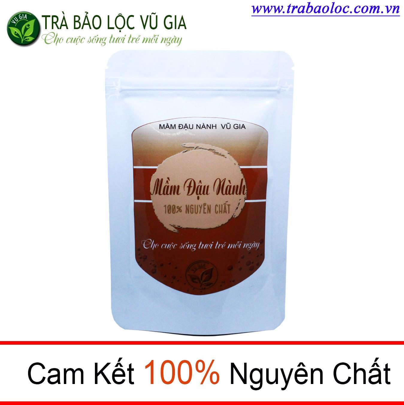 Mầm Đậu Nành Nguyên Chất 100g ( dạng túi)  Nguyên Chất Vũ Gia - Chăm sóc hệ tiêu hóa