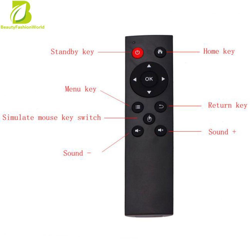 USB2.0 Bàn Phím Không Dây Điều Khiển Từ Xa Android TV Box cho MÁY TÍNH, TV Đen quốc tế-quốc tế